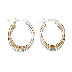 Twist Oval-Hoop Earrings