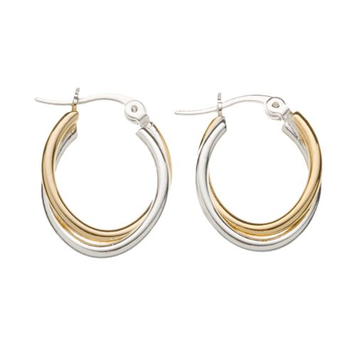 Croft & Barrow® Twist Oval-Hoop Earrings