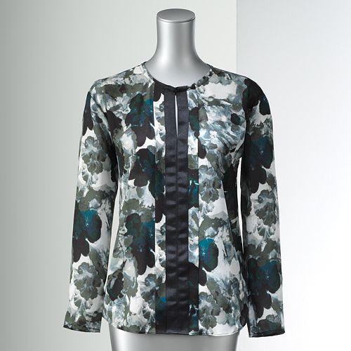 Simply Vera Vera Wang Print Chiffon Tunic - Women's