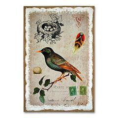 'Sparrow' Burlap Wall Art