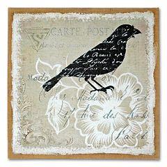 'Blackbird' Burlap Wall Art