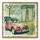 """Red Auto"" Burlap Wall Art"