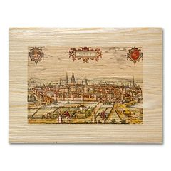 'Antique Maps Walled City' Wall Art