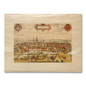 Antique Maps Walled City Wall Art