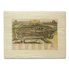 'Antique Maps Large Walled City' Wall Art