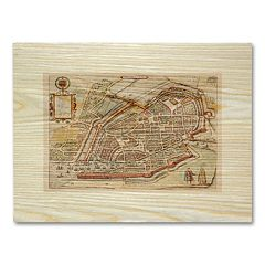 'Antique Maps Birds' Eye View' Wall Art