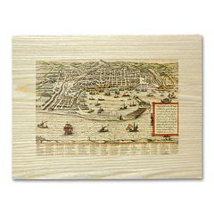 'Antique Maps Harbor City' Wall Art