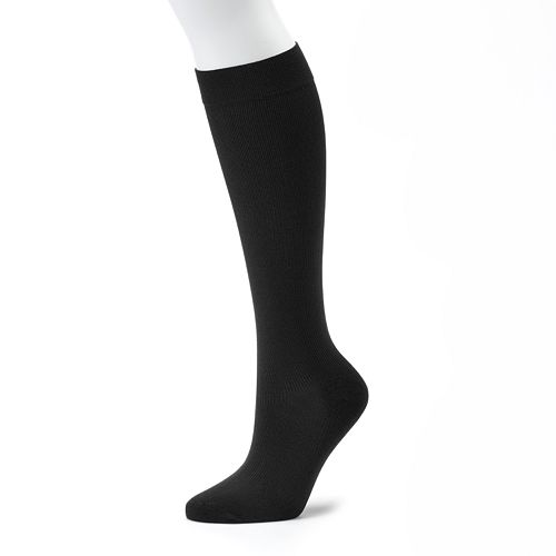 Dr. Motion Ribbed Compression Knee-High Socks