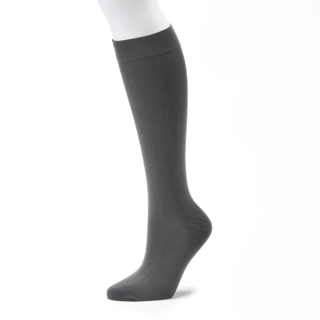 Dr. Motion Ribbed Compression Knee-High Socks
