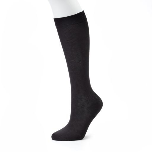 Women's Dr. Motion Knee-High Woven Stitched Compression Socks