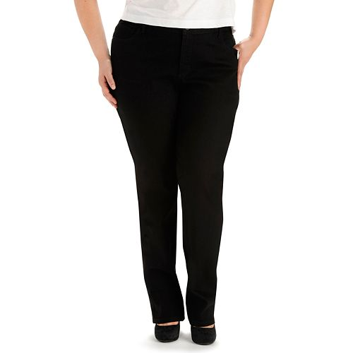 Plus Size Lee® Instantly Slims Straight-Leg Jeans