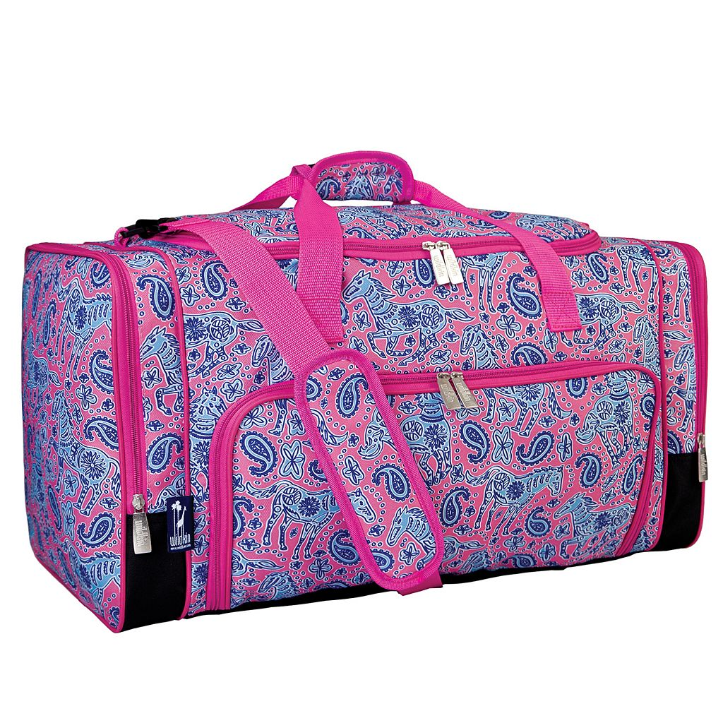 Wildkin Watercolor Ponies Weekender Duffel Bag - Kids