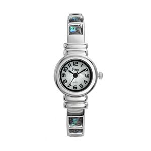 Vivani Women's Simulated Abalone Bangle Watch