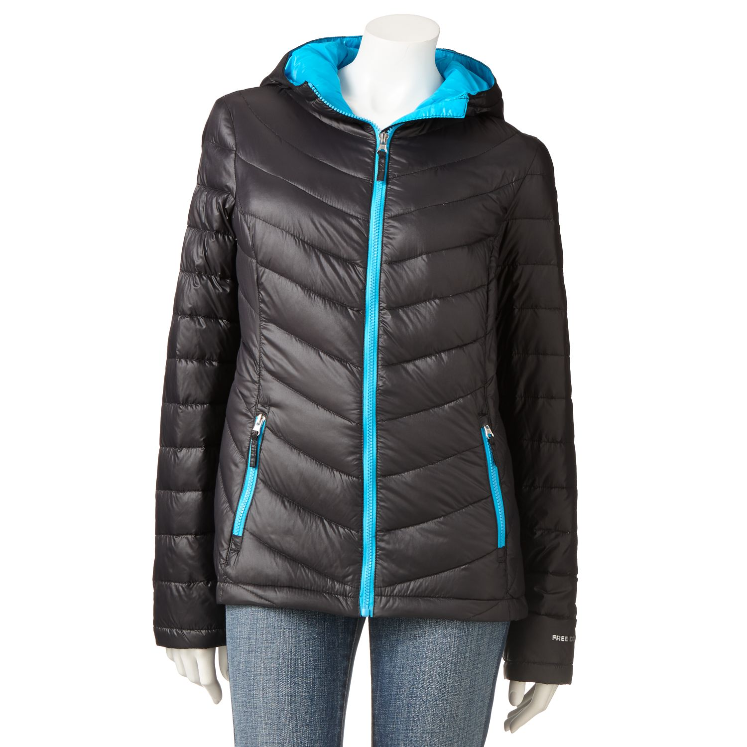 Free Country Hooded Packable Puffer Jacket - Women's