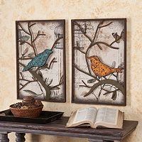 Fenworth Bird 2 pc Wall Panel Set
