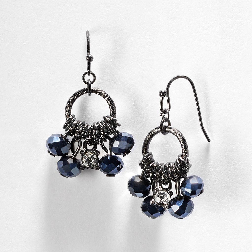 Simply Vera Vera Wang Bead Hoop Drop Earrings