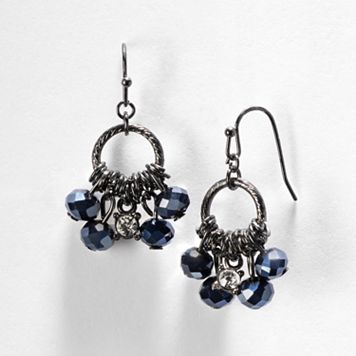Simply Vera Vera Wang Bead Hoop Drop Earrings