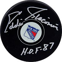 Steiner Sports Eddie Giacomin New York Rangers Autographed Hockey Puck