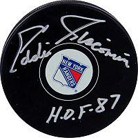 Steiner Sports Eddie Giacomin New York Rangers Autographed Hockey Puck