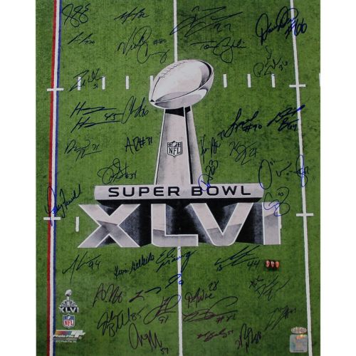 Steiner Sports New York Giants Team Signed 16'' x 20'' Super Bowl XLVI Champions Photo