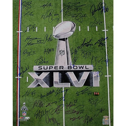 "Steiner Sports New York Giants Team Signed 16"" x 20"" Super Bowl XLVI Champions Photo"