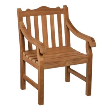 Frederik Outdoor Teak Arm Chair
