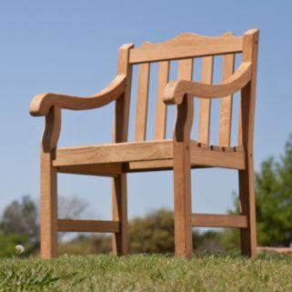 Frederik Outdoor Teak Arm Chair
