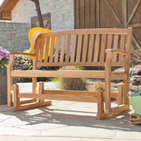 Wilson Outdoor Teak Glider Bench
