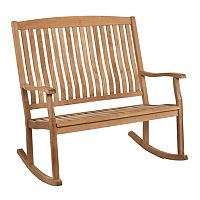 Thompson Outdoor Teak Double Rocker
