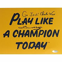 Steiner Sports Lou Holtz and Charlie Weis Play Like A Champion Today 8'' x 10'' Signed Photo