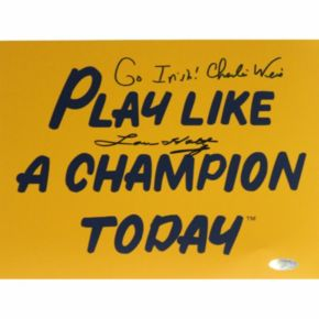 Steiner Sports Lou Holtz and Charlie Weis Play Like A Champion Today 8'' x 10'' Signed Photo Photo