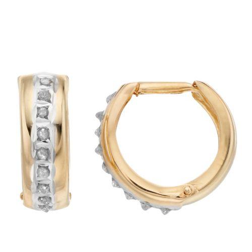 Diamond Fascination 14k Gold Diamond Accent U-Hoop Earrings