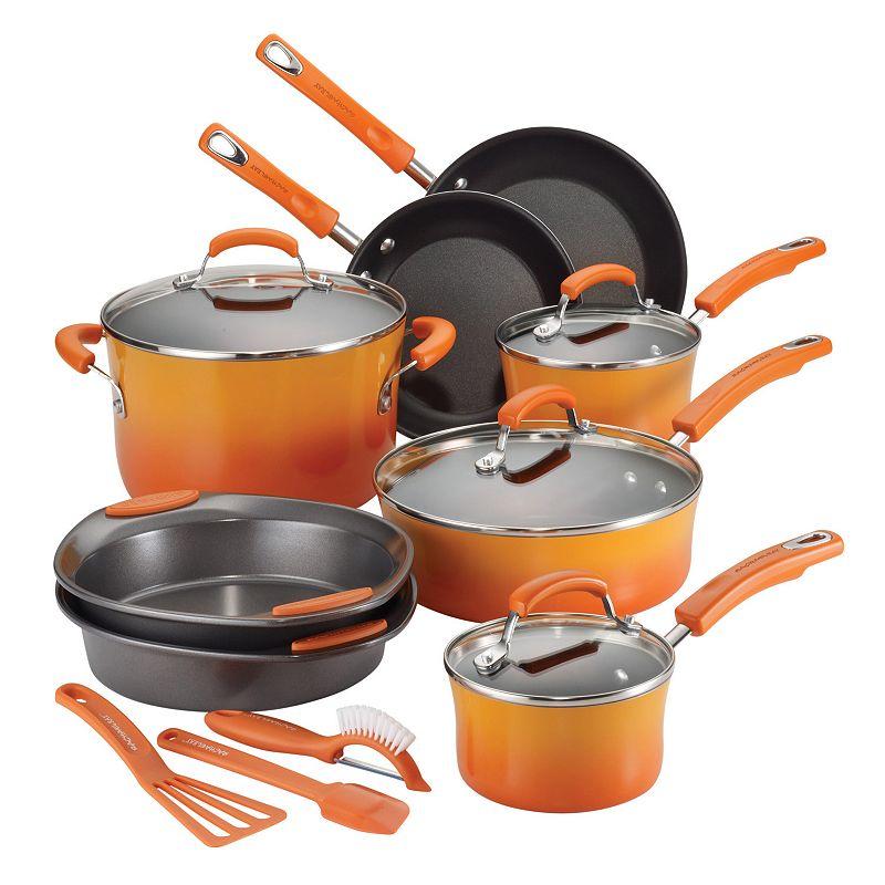 Rachael Ray 15-pc. Nonstick Porcelain Enamel Cookware Set