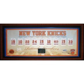 Steiner Sports New York Knicks Retired Numbers 14'' x 32'' Collage