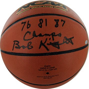 Steiner Sports Bob Knight '76, '81 & '87 NCAA Champs Autographed Basketball
