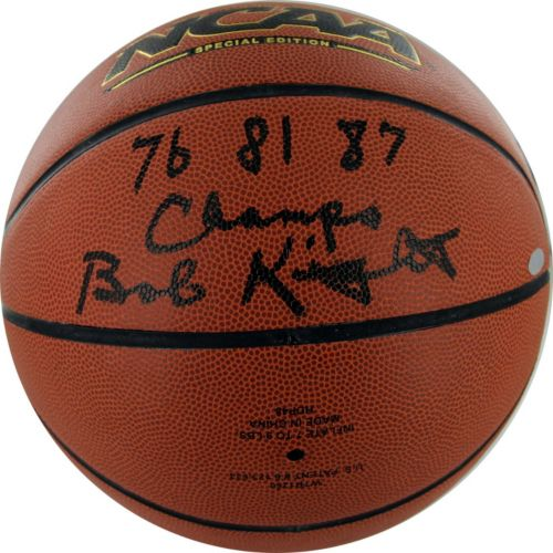 Steiner Sports Bob Knight '76, '81 and '87 NCAA Champs Autographed Basketball