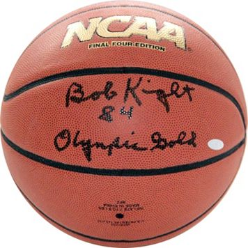 Steiner Sports Bob Knight 1984 Olympic Gold Autographed Basketball