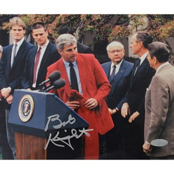 Steiner Sports Bob Knight Standing At Podium 8'' x 10'' Signed Photo