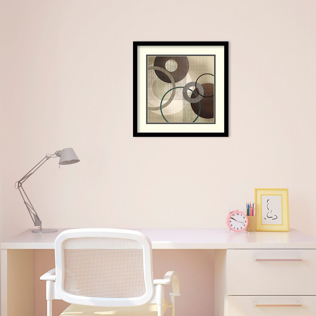 Hoops 'n' Loops I Framed Wall Art by Tandi Venter