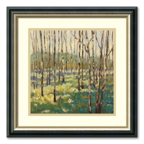Trees in Blue Green Framed Wall Art by Libby Smart