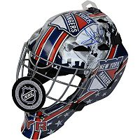 Steiner Sports Henrik Lundqvist New York Rangers Signed Full Size Goalie Mask with Shield Logo