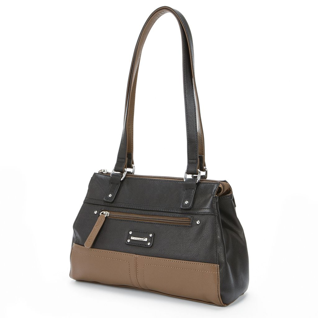 Stone & Co. Donna Colorblock Leather Satchel