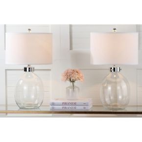 Safavieh 2-pc. Clear Glass Table Lamp Set