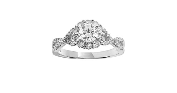 Simply Vera Vera Wang Diamond Engagement Ring In 14k White