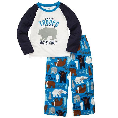 20ac9168a Boys Carter's Troops Camping Pajama Set
