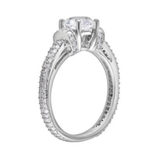 10k White Gold Lab-Created White Sapphire and 1/2-ct. T.W. Diamond Ring