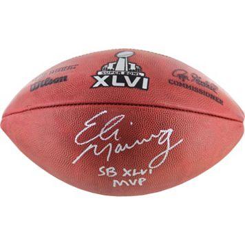 Steiner Sports Eli Manning Signed Super Bowl XLVI Football with Inscription