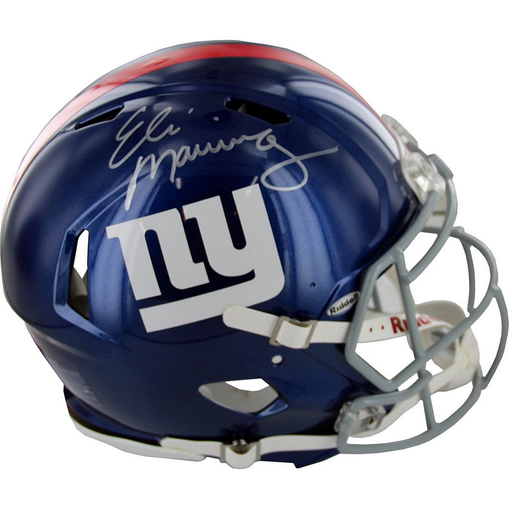 Steiner Sports New York Giants Eli Manning Autographed Full-Size Speed Helmet