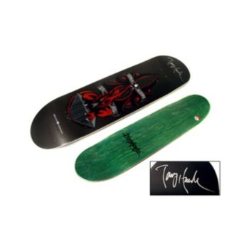 Steiner Sports Tony Hawk Autographed Birdhouse Red Dragon Skateboard Deck
