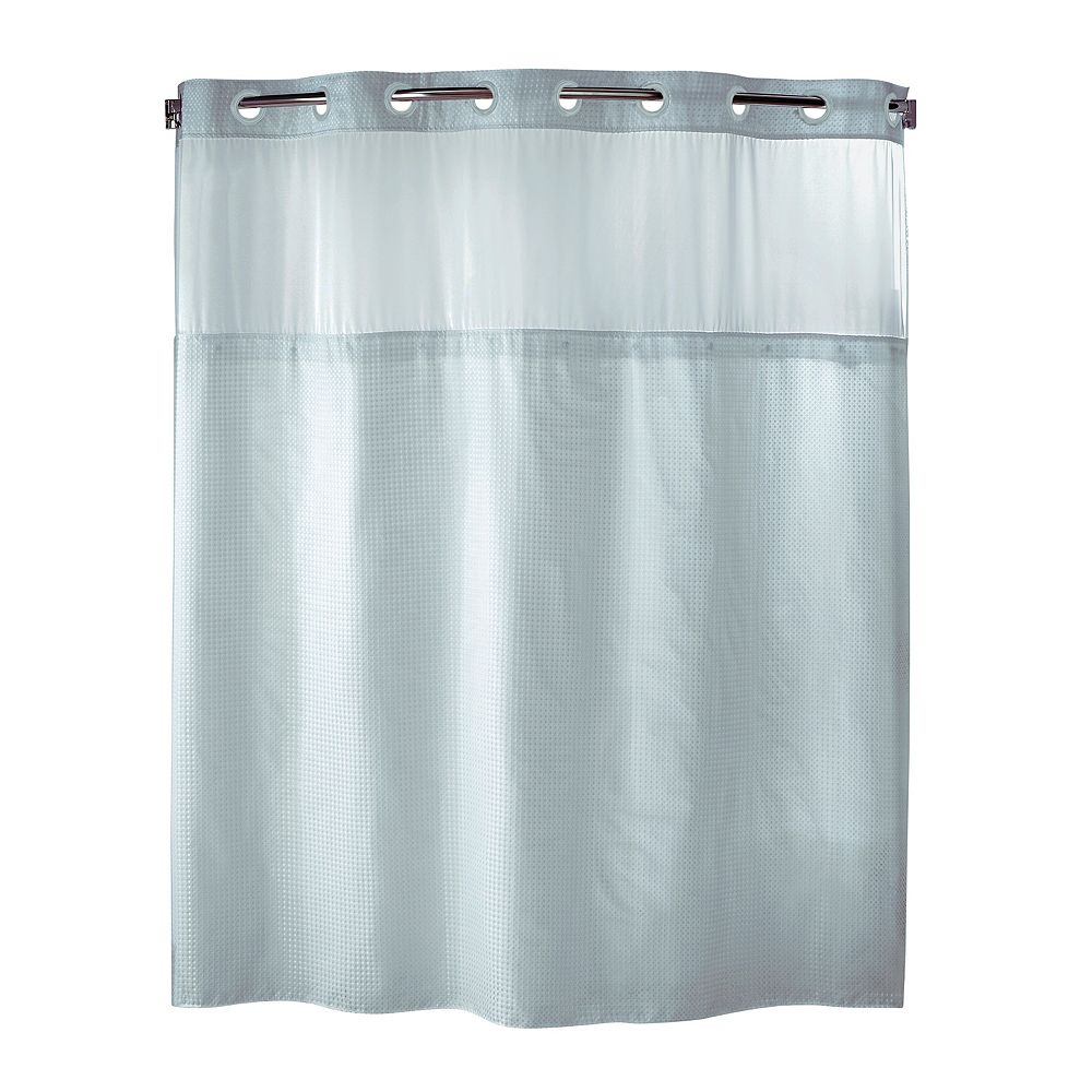Hookless shower curtain with snap liner - Hookless Shower Curtain With Snap Liner 19